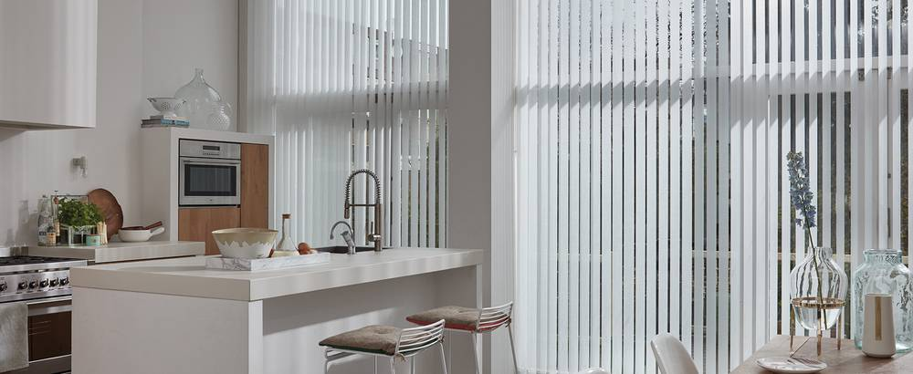 vertical blinds kitchen